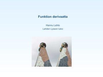 Funktion derivaatta (kalvot - Lahti