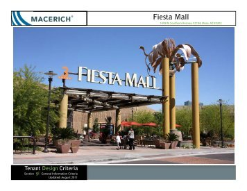 Fiesta Mall General Information Criteria - Macerich
