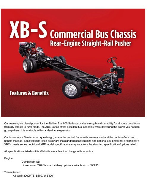 Freightliner Xbs Rear Engine Chassis