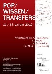 das aktuelle Programm zur Jahrestagung der AG - Jochen Bonz