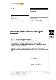 Prestation d'action sociale : chèques- vacances - Cjoint