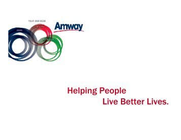 Helping People Live Better Lives. - Supplier Portal - Amway