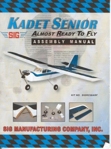 Sig Kadet Senior Assembly Manual - Linuxden.com