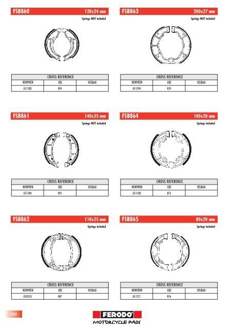 Brake Pad Number Cross Reference