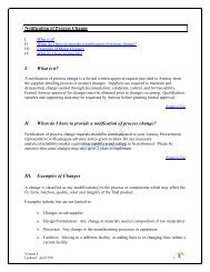 Notification of Process Change I. What is it? II. When do I ... - Amway