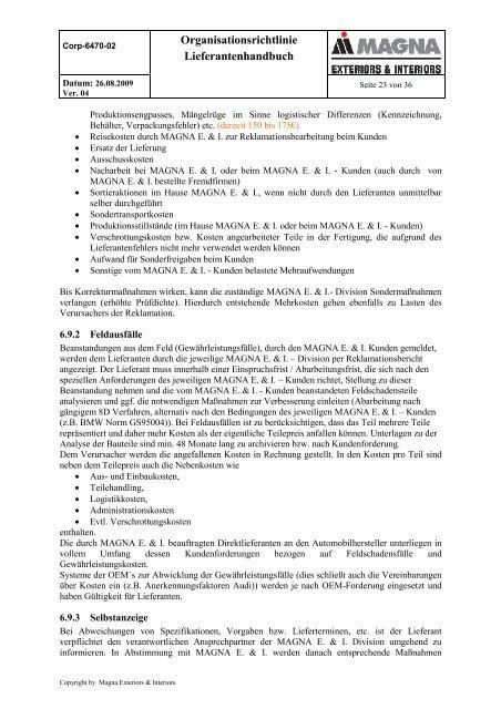 Corp 6470 02 Organisation