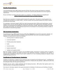 QA Requirements - Amway