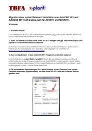 Migration einer x-plant Release 2 Installation von AutoCAD 2010 auf ...