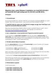 Hinweise für eine Migration von AutoCAD 2010/2011 nach ... - X-Plant