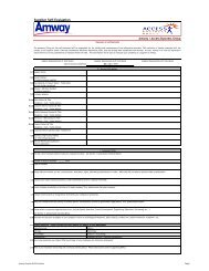 Supplier Self-Evaluation (SSE) Form Rev.02 - Amway