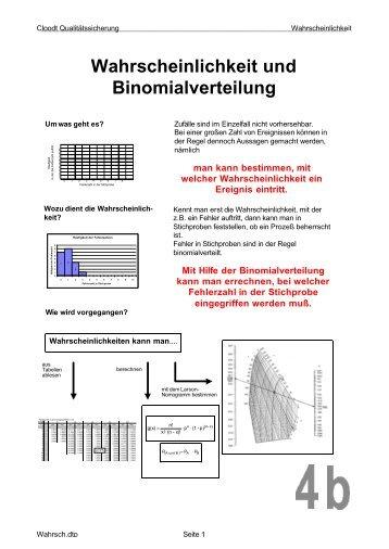 Wahrscheinlichkeit und Binomialverteilung