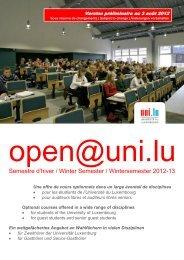 Cross-faculty Courses Summer Semester 2011/2012 - lifelong ...
