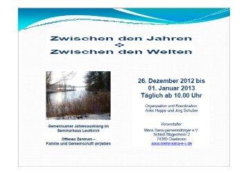 PDF vom Treffen Zwischen den Jahren ... - MENS SANA eV