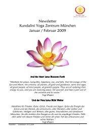 Newsletter Jan_Feb 2009 - Kundalini Yoga Zentrum München