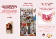 3HO Frauen Camp München 2011 Kreativität – die Essenz des ...