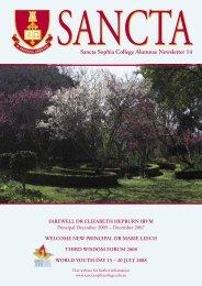 Sancta Sophia College Alumnae Newsletter 14