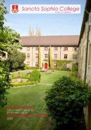 Walk in Wisdom Guide 24 Feb 2011 - Sancta Sophia College