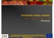 Interaktīvās mācību metodes (prezentacija)