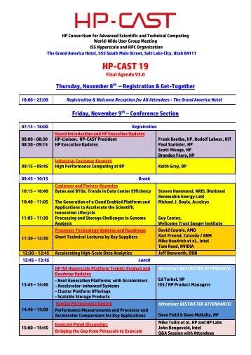 HP-CAST 19