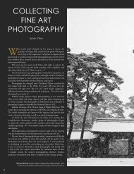 COLLECTING FINE ART PHOTOGRAPHY - American Art Collector