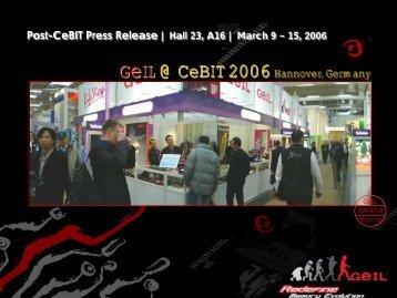 Post-CeBIT Press Release | Hall 23, A16 | March 9 - TweakTown