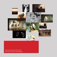 2009 MFA Catalog - School of Art - University of Arizona