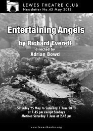May 2013: Entertaining Angels - Lewes Theatre Club