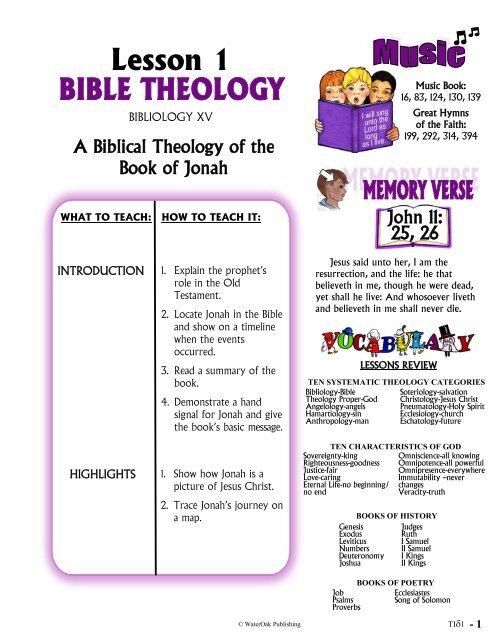 Sample THEOLOGY Lesson - Technology Ministries
