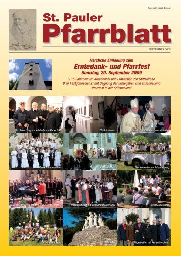 Zum Pfarrblatt September 2009 - auf der Homepage der Stiftspfarre ...
