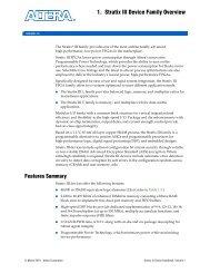 Stratix GX FPGA Family Data Sheet - Altera