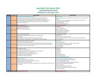 Law IAS Main Test Series Schedule.xlsx - developindiagroup.co.in