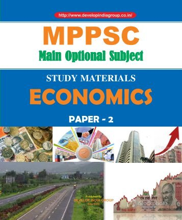MPPSC Main Exam Optional Economics Paper 2 content.pdf
