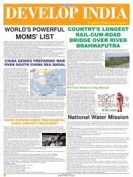 Develop India Year 4, Vol. 1, Issue 196, 6 - developindiagroup.co.in
