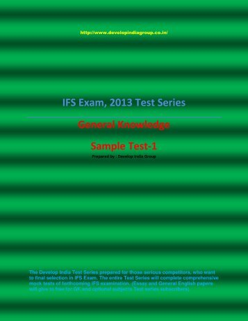 General Knowledge Test Series Sample.pdf - developindiagroup.co.in