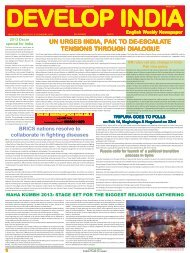 Develop India Year 5, Vol. 1, Issue 231, 6-13 January, 2013.pmd