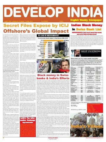 Develop India Year 5, Vol. 1, Issue 243, 31 March - 7 April, 2013.pmd