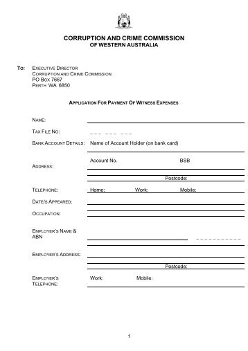 Request For Approval To Incur Special Expense Form
