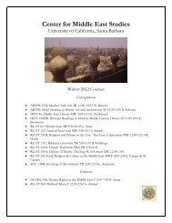 Center for Middle East Studies - University of California, Santa Barbara