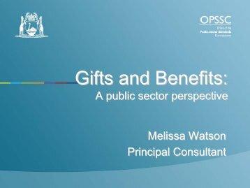 Gifts and Benefits: - wa.gov.au
