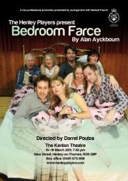 Bedroom Farce - The Henley Players