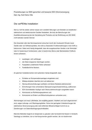 Die verPENte Installation.wps - poti-kabel.de