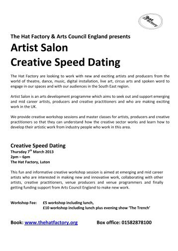 Speed dating for artists