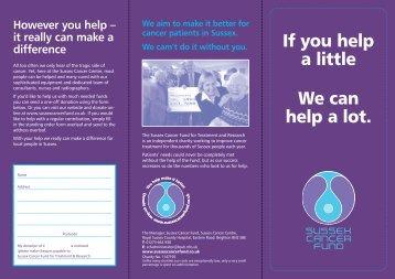 Appeal-SO-leaflet 1..2 - Sussex Cancer Fund