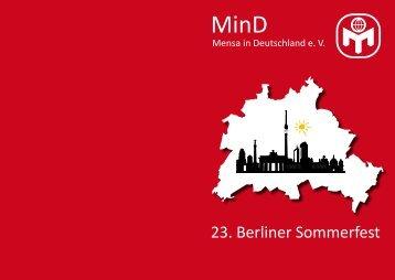 23. Berliner Sommerfest - Berlin - Mensa in Deutschland e.v.