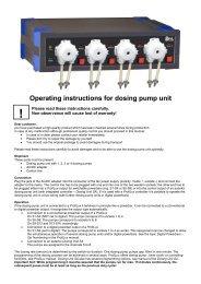 Operating instructions for dosing pump unit - AquaCave