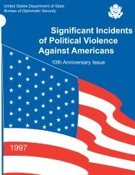 Significant Incidents of Political Violence Against ... - Terrorism