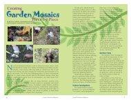 Creating Garden Mosaics, Piece by Piece - SCI-Links
