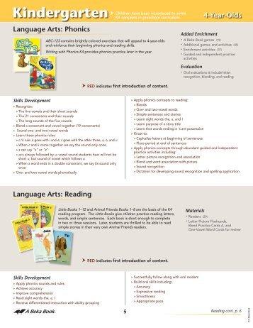 Kindergarten - A Beka Book