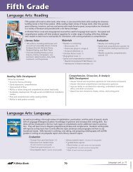 ABB School Scope and Sequence 2012- Fifth Grade ... - A Beka Book