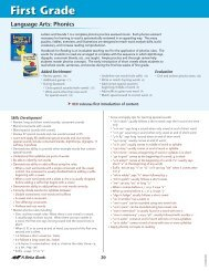 ABB School Scope and Sequence 2012- First Grade ... - A Beka Book